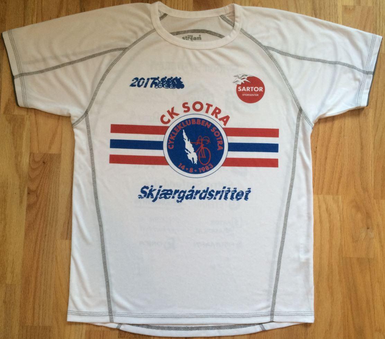 T-skjorte til alle som deltar på Skjærgårdsrittet